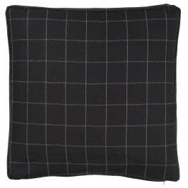 IB LAURSEN Povlak na polštář checkered black 45 x 45 cm, černá barva, textil