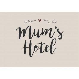 IB LAURSEN Plechová cedule Mum's Hotel, hnědá barva, kov