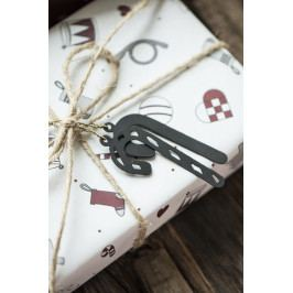 IB LAURSEN Dárkový balicí papír Christmas Wide - 10m, bílá barva, papír