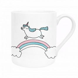 Ohh Deer Porcelánový hrneček Magical Unicorn 325 ml, bílá barva, porcelán