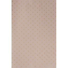 IB LAURSEN Dárkový balicí papír Hearts Malva-10m, růžová barva, zlatá barva, papír