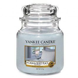 Yankee Candle Svíčka Yankee Candle 411gr - A Calm & Quiet Place, modrá barva, sklo, vosk