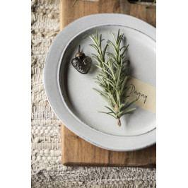 IB LAURSEN Keramický talíř Grey Dunes 22cm, šedá barva, keramika