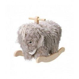 Kids Concept Houpací mamut Neo 61 cm, šedá barva, přírodní barva, dřevo, textil