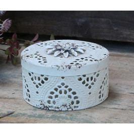 Chic Antique Dekorativní dóza Antique Cream, krémová barva, kov