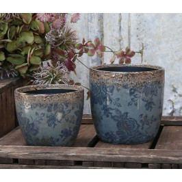 Chic Antique Obal na květiny Blue Opal - menší, modrá barva, keramika