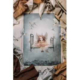 MRS. MIGHETTO Plakát Miss Olivia 50 x 70 cm, multi barva, papír