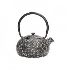 Hübsch Designová čajová konvice 0,8 l, černá barva, kov, litina