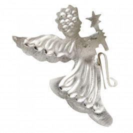 Bloomingville Vánoční dekorace Silver Angel, stříbrná barva, kov