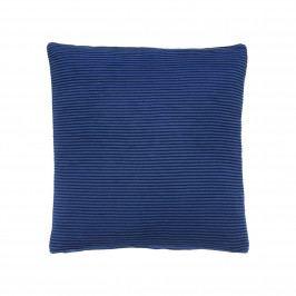 Hübsch Bavlněný modrý polštář 52 x 52 cm, modrá barva, textil