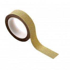 Bloomingville Designová lepicí páska Gold 8 m, zlatá barva, papír