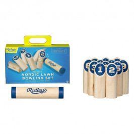 Ridley's Games Room Severský zahradní Bowling set, modrá barva, přírodní barva, dřevo