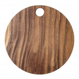 Bloomingville Dřevěné prkénko Acacia Brown 25 cm, hnědá barva, přírodní barva, dřevo
