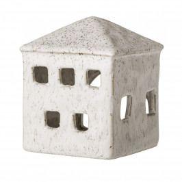 Bloomingville Keramická lucerna domeček White, béžová barva, krémová barva, keramika