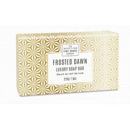 SCOTTISH FINE SOAPS Luxusní tuhé mýdlo Frosted Dawn, bílá barva, zlatá barva, papír