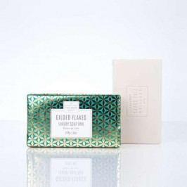SCOTTISH FINE SOAPS Luxusní tuhé mýdlo Gilded Flakes, zelená barva, zlatá barva, papír