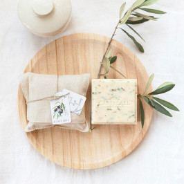 CASTELBEL Luxusní mýdlo Olive Leaf, přírodní barva, textil