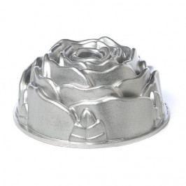 Nordic Ware Hliníková forma na bábovku Rose, šedá barva, kov