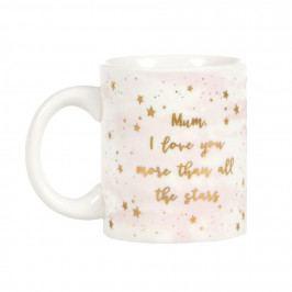 sass & belle Keramický hrneček Mum I love you, růžová barva, bílá barva, keramika 310 ml