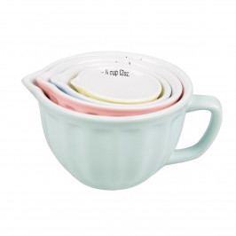 sass & belle Keramické odměrky Retro Pastel - set 4 ks, růžová barva, modrá barva, zelená barva, žlutá barva, multi barva, keramika