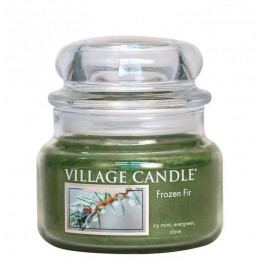 VILLAGE CANDLE Svíčka ve skle Frozen Fir - malá, zelená barva, sklo, vosk