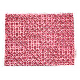 Krasilnikoff Bavlněné prostírání Hearts Red, červená barva, textil