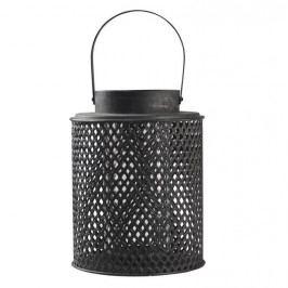 Chic Antique Lucerna Round Lantern 24 cm, černá barva, kov