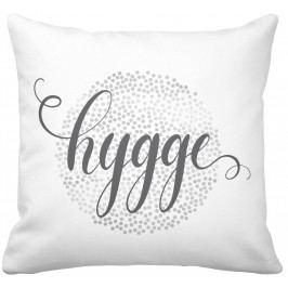 Krasilnikoff Bavlněný povlak na polštář Hygge 50x50, šedá barva, bílá barva, textil
