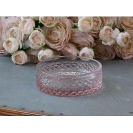 Chic Antique Mýdlenka Rose Pink ⌀ 11 cm, růžová barva, sklo