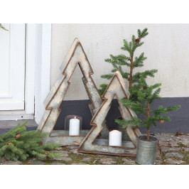Chic Antique Velký svícen Christmas Tree 44cm, béžová barva, hnědá barva, kov