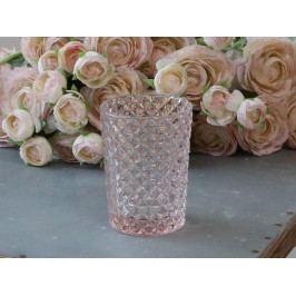 Chic Antique Sklenička do koupelny Rose Pink, růžová barva, sklo