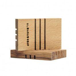 Almara Soap Mýdlenka z březového dřeva Menší, hnědá barva, dřevo