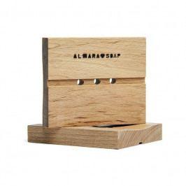 Almara Soap Mýdlenka z březového dřeva Větší, hnědá barva, dřevo