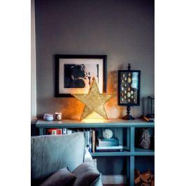 watt & VEKE Svítící kovová hvězda Tindra Small Gold, zlatá barva, kov