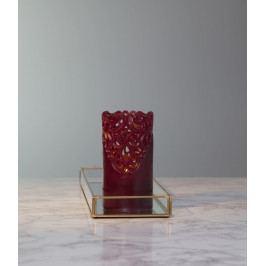 STAR TRADING Vosková LED svíčka - Calm Christmas, červená barva, plast, vosk