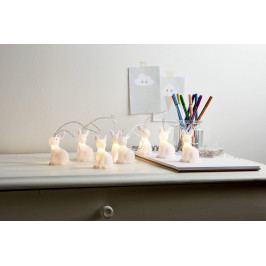 STAR TRADING Světelný řetěz - White Rabbit, červená barva, bílá barva, čirá barva, plast