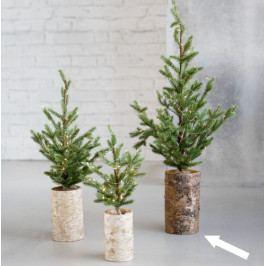 House Doctor Vánoční stromeček se světýlky 64cm, zelená barva, dřevo, plast