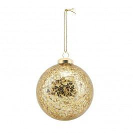 House Doctor Vánoční baňka Gold Spots, zlatá barva, sklo