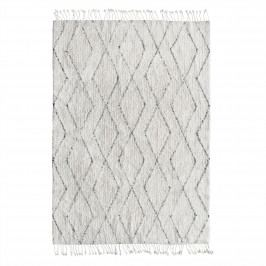 HK living Bavlněný koberec Black and White 140x200cm, černá barva, bílá barva, textil