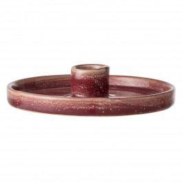 Bloomingville Keramický svícen Joëlle Red, červená barva, hnědá barva, keramika