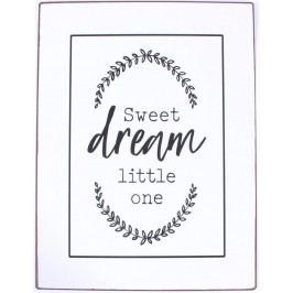 La finesse Plechová cedule Sweet Dream Little One, černá barva, bílá barva, kov