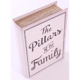 La finesse Dřevěná kniha s úložným prostorem The Pillars, multi barva, dřevo