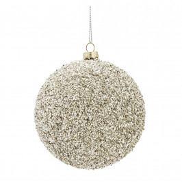MADAM STOLTZ Vánoční baňka Rocks Silver, stříbrná barva, plast