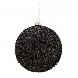 MADAM STOLTZ Vánoční baňka Rocks Black, černá barva, plast