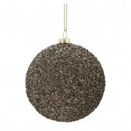 MADAM STOLTZ Vánoční baňka Rocks Grey, šedá barva, plast