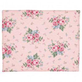 GREEN GATE Bavlněné prostírání Marley pale pink 35x45cm, růžová barva, textil