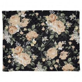 GREEN GATE Bavlněné prostírání Josephine black 35x45cm, oranžová barva, černá barva, textil