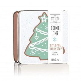 SCOTTISH FINE SOAPS Vánoční mýdlo v krabičce Silver Pine, zelená barva, hnědá barva, kov