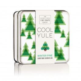 SCOTTISH FINE SOAPS Vánoční mýdlo v plechové krabičce Pine, zelená barva, kov