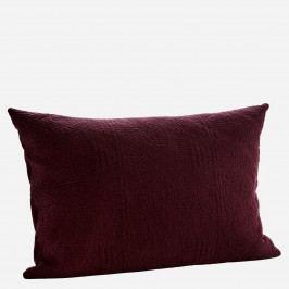 MADAM STOLTZ Povlak na polštář Quilted Cushion Aubergine, fialová barva, textil
